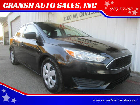 2015 Ford Focus for sale at CRANSH AUTO SALES, INC in Arlington TX