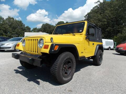 2001 Jeep Wrangler for sale at Deer Park Auto Sales Corp in Newport News VA