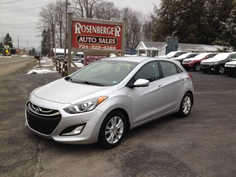 2013 Hyundai Elantra GT for sale at Rosenberger Auto Sales LLC in Markleysburg PA