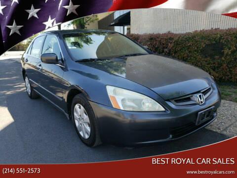 2004 Honda Accord for sale at Best Royal Car Sales in Dallas TX