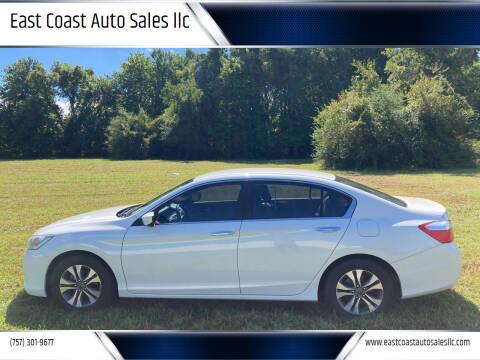 2014 Honda Accord for sale at East Coast Auto Sales llc in Virginia Beach VA