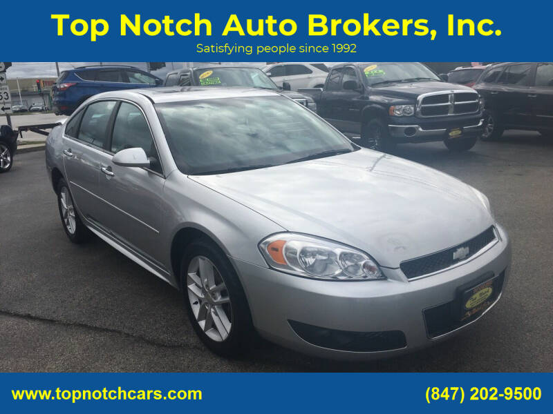 2012 Chevrolet Impala for sale at Top Notch Auto Brokers, Inc. in Palatine IL