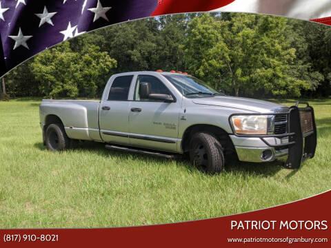 2006 Dodge Ram Pickup 3500 for sale at Patriot Motors in Granbury TX