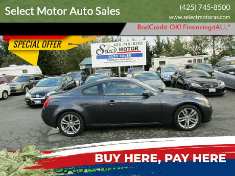 2008 Infiniti G37 for sale at Select Motor Auto Sales in Lynnwood WA