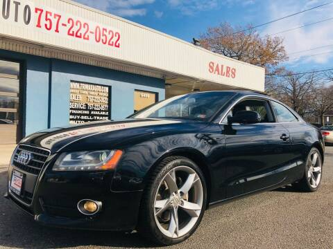 2012 Audi A5 for sale at Trimax Auto Group in Norfolk VA