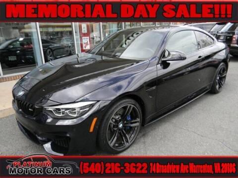 2018 BMW M4 for sale at Platinum Motorcars in Warrenton VA