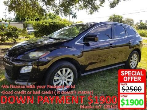 2012 Mazda CX-7 for sale at AUTO COLLECTION OF SOUTH MIAMI in Miami FL