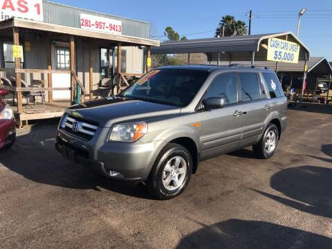 2007 Honda Pilot for sale at Texas 1 Auto Finance in Kemah TX
