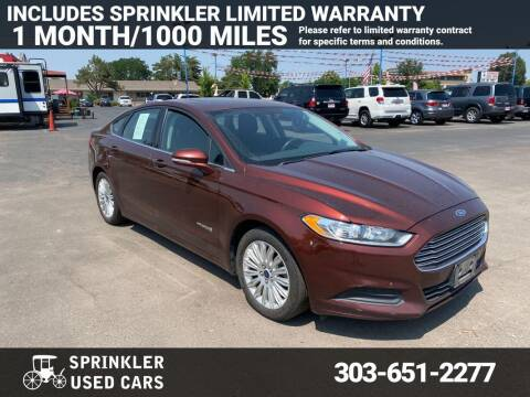 2015 Ford Fusion Hybrid for sale at Sprinkler Used Cars in Longmont CO