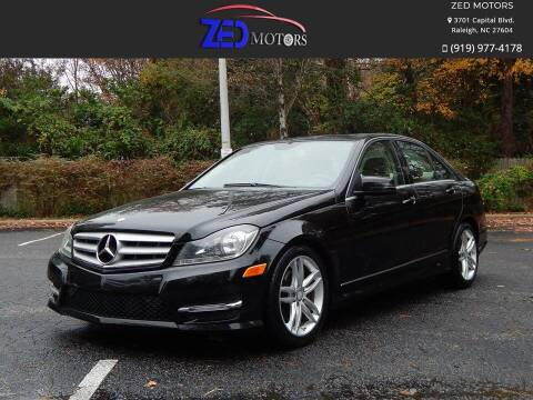 2013 Mercedes-Benz C-Class for sale at Zed Motors in Raleigh NC