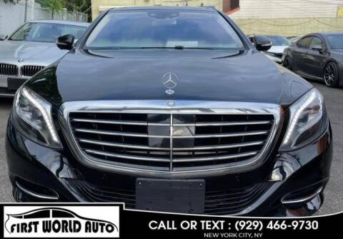 2015 Mercedes-Benz S-Class for sale at First World Auto in Jamaica NY