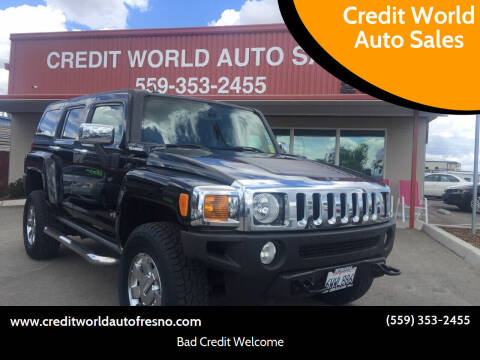 2007 HUMMER H3 for sale at Credit World Auto Sales in Fresno CA
