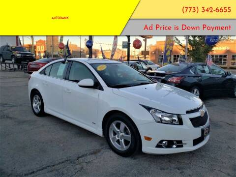 2013 Chevrolet Cruze for sale at AutoBank in Chicago IL