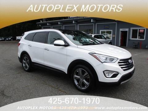 2016 Hyundai Santa Fe for sale at Autoplex Motors in Lynnwood WA