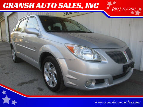 2005 Pontiac Vibe for sale at CRANSH AUTO SALES, INC in Arlington TX