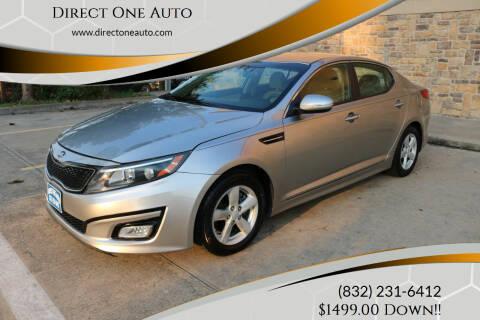 2015 Kia Optima for sale at Direct One Auto in Houston TX
