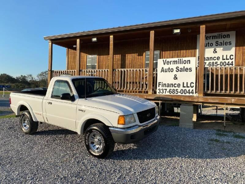 2003 Ford Ranger for sale at Vermilion Auto Sales & Finance in Erath LA