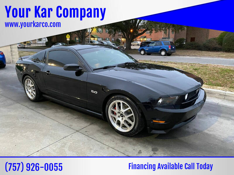 2012 Ford Mustang for sale at Your Kar Company in Norfolk VA