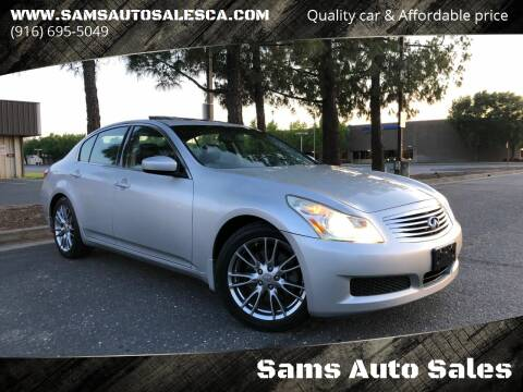 2009 Infiniti G37 Sedan for sale at Sams Auto Sales in North Highlands CA