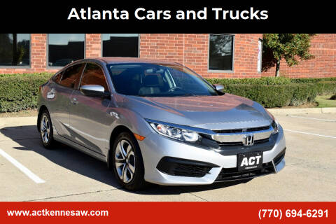 2018 Honda Civic for sale at Atlanta Cars and Trucks in Kennesaw GA
