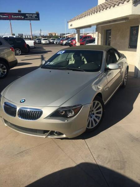2004 BMW 6 Series for sale at Town and Country Motors in Mesa AZ