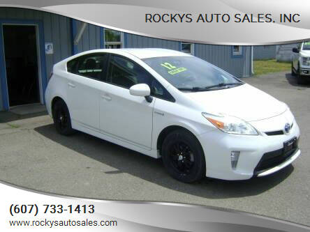2012 Toyota Prius for sale at Rockys Auto Sales, Inc in Elmira NY