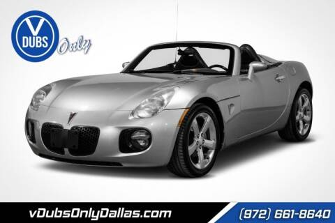 2007 Pontiac Solstice for sale at VDUBS ONLY in Dallas TX