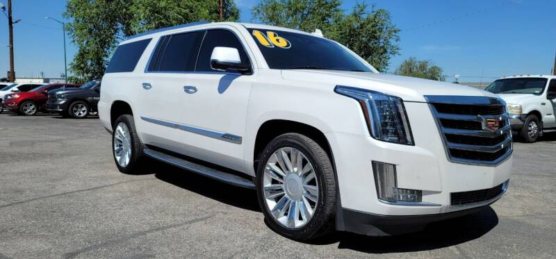 2016 Cadillac Escalade ESV for sale at FRANCIA MOTORS in El Paso TX