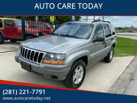 2000 Jeep Grand Cherokee for sale at AUTO CARE TODAY in Spring TX