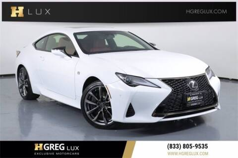 2021 Lexus RC 300 for sale at HGREG LUX EXCLUSIVE MOTORCARS in Pompano Beach FL