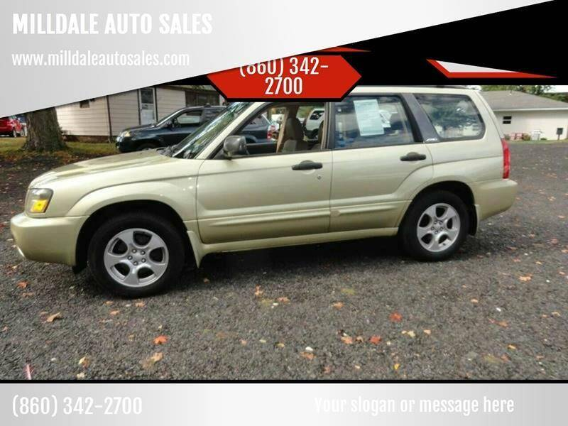 2004 Subaru Forester for sale at MILLDALE AUTO SALES in Portland CT