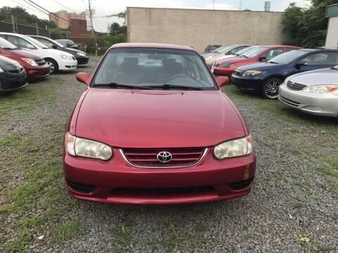 2001 Toyota Corolla for sale at A & B Auto Finance Company in Alexandria VA