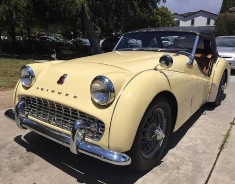 1958 Triumph TR3A for sale at Classic Car Deals in Cadillac MI
