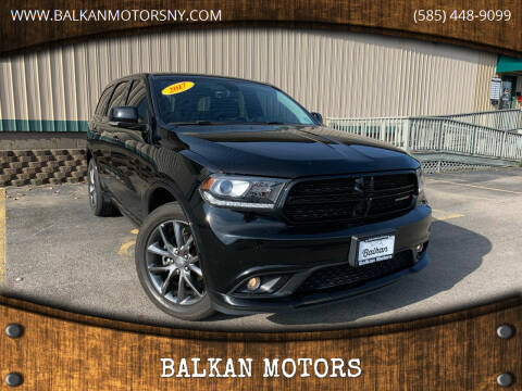 2017 Dodge Durango for sale at BALKAN MOTORS in East Rochester NY