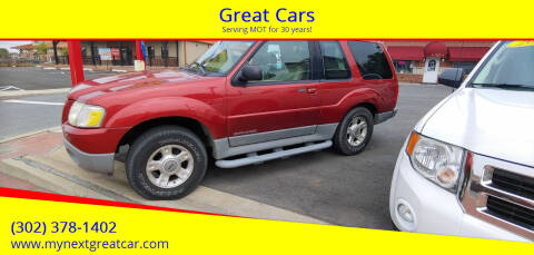 2002 Ford Explorer Sport for sale at Great Cars in Middletown DE