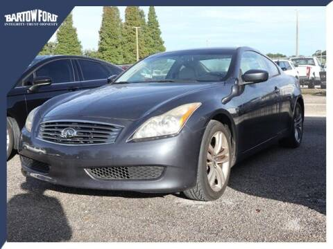 2009 Infiniti G37 Coupe for sale at BARTOW FORD CO. in Bartow FL