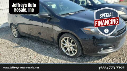 2013 Dodge Dart for sale at Jeffreys Auto Resale, Inc in Clinton Township MI