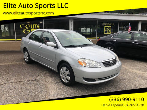 2008 Toyota Corolla for sale at Elite Auto Sports LLC in Wilkesboro NC