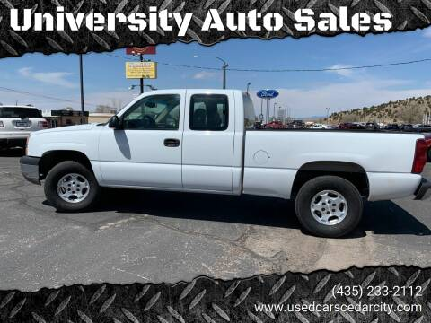 2003 Chevrolet Silverado 1500 for sale at University Auto Sales in Cedar City UT