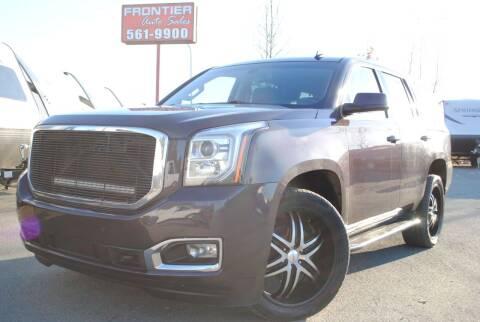 2015 GMC Yukon for sale at Frontier Auto & RV Sales in Anchorage AK