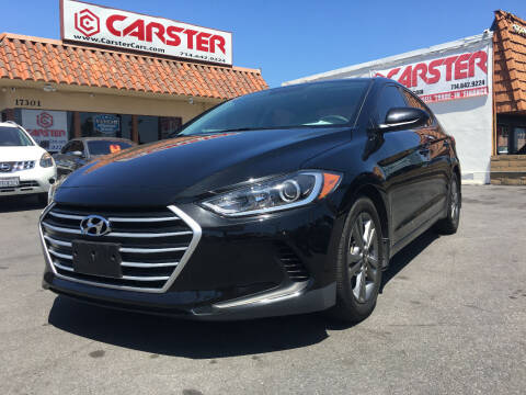 2018 Hyundai Elantra for sale at CARSTER in Huntington Beach CA