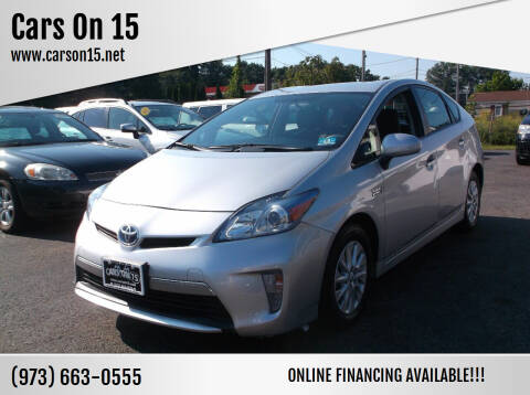 2012 Toyota Prius Plug-in Hybrid for sale at Cars On 15 in Lake Hopatcong NJ