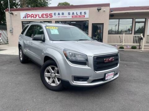 2015 GMC Acadia for sale at PAYLESS CAR SALES of South Amboy in South Amboy NJ