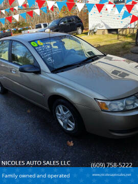 2006 Saturn Ion for sale at NICOLES AUTO SALES LLC in Cream Ridge NJ