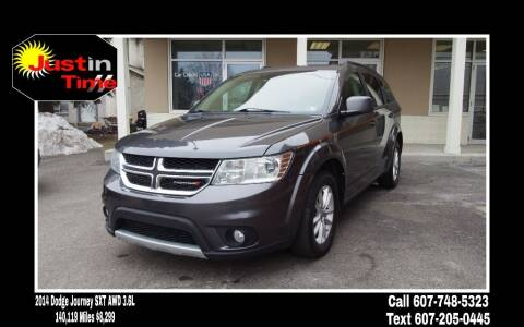 2014 Dodge Journey for sale at Just In Time Auto in Endicott NY