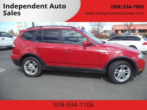 2007 BMW X3 for sale at Independent Auto Sales in Spokane Valley WA