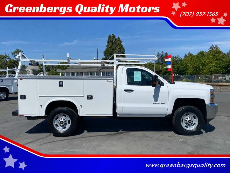 2016 Chevrolet Silverado 2500HD for sale at Greenbergs Quality Motors in Napa CA