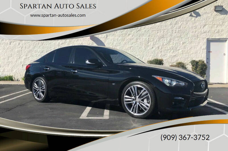 2015 Infiniti Q50 for sale at Spartan Auto Sales in Upland CA