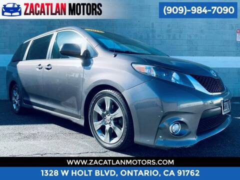 2012 Toyota Sienna for sale at Ontario Auto Square in Ontario CA