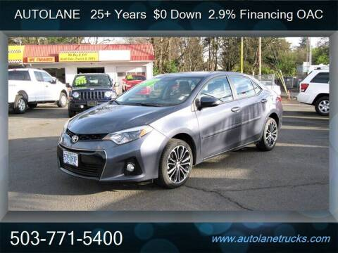 2016 Toyota Corolla for sale at Auto Lane in Portland OR